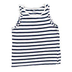 H&M Organic Cotton Navy Striped Tank Top